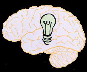 קוגניטיבי מוח שקוף והפוך