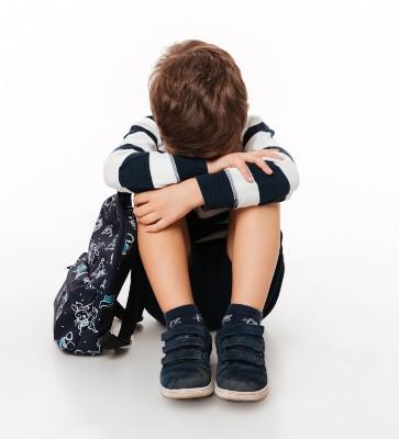 school boy alone