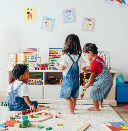 toddlers playing together